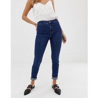 New Look high waist skinny jean in mid blue - Mid blue