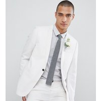 Noak skinny wedding suit jacket - White