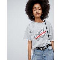 Cheap Monday Synth Logo Sweat T-Shirt - Warm melange