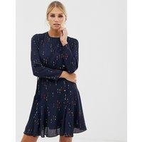 Karen Millen arrow print mini dress - Navy