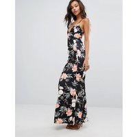 MissguidedMissguided Cross Back Floral Plunge Maxi Dress - Multi