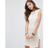 DieselDiesel Sheer Panel Tunic Dress - White