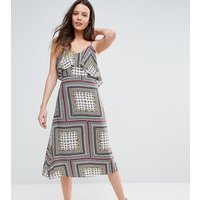 Glamorous TallGlamorous Tall Cold Shoulder Midi Swing Dress - Multi
