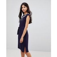 Sugarhill Boutique Ahoy Cutwork Embroidered Dress - Navy