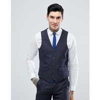 Harry Brown Charcoal Mini check Slim Fit Suit Waistcoat - Charcoal