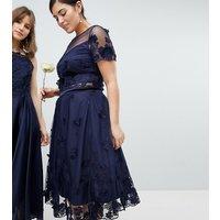 Coast Curve Neive floral applique skirt - Navy