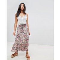 Raga Victoria Printed Maxi Skirt - Peach