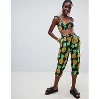 Pantalones holgados con estampado de piñas de ASOS Made In Kenya x Julie Adenuga