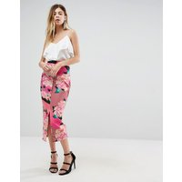 Falda de tubo con estampado floral de neopreno de ASOS