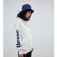 Ellesse Relaxed Hoodie With Arm Logo In Fine Knit - Grey