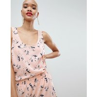 Pieces Floral Cami Top Co-Ord - Pink