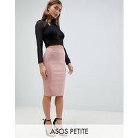 Falda de tubo con cintura de talle alto de ASOS DESIGN Petite