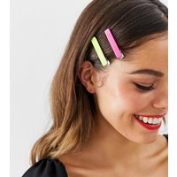 Accessorize 4 Clip Multipack Neon Hair Slides