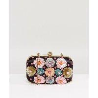 Bolso clutch estructurado hecho a mano con bordado floral de Park Lane