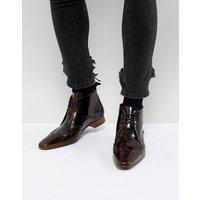 Jeffery West Escobar brogue boots in brown - Brown