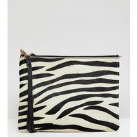 Accessorize Claudia Leather Zebra Cross Body Bag - Blackwhite