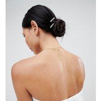 Accessorize Diamante 4 Pack Hair Clips - Silver