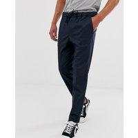 Pantalones azul marino con cordón en la cintura de Jack & Jones Premium