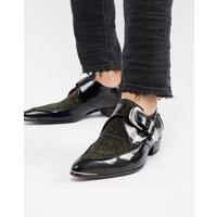 Jeffery West Adamant glitter monk shoes - Black