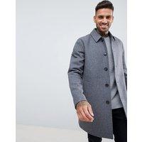 ASOS DESIGN wool mix trench coat in light grey - Light grey
