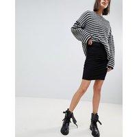 Vero Moda Gathered Panel Skirt - Black