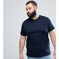 French Connection Plus V Neck T-shirt - Marine