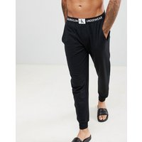 Calvin Klein Monogram Joggers With Cuffed Ankle - Black