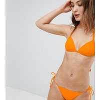 Free Society Stripe Tie Side Hipster Bikini Bottom - Orange