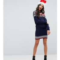 ASOS TallASOS TALL Christmas Co-ord Skirt in Fairisle - Multi
