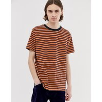 Weekday Home striped t-shirt in red - Red
