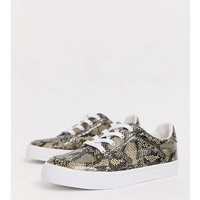ASOS DESIGN Wide Fit Value trainers in snake - Snake