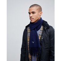 Barbour Plain Lambswool Scarf In Navy - Navy