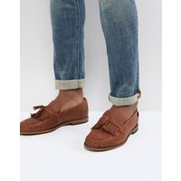 H by Hudson Alloa woven loafers in tan leather - Tan