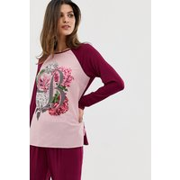 B By Ted Baker Palace Gardens Floral Print Long Sleeve Pyjama Top