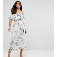Y.A.S TallY.A.S Studio Tall Jessy Floral Printed Bardot Midi Dress - Multi