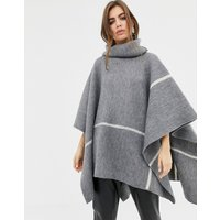 b.Young roll neck poncho - Dark grey