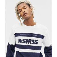 K-Swiss Fairfield Long Sleeve T-Shirt With Logo Panel In Navy - Navy