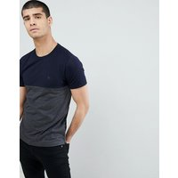 French Connection Block T-Shirt - Marine/charcoal mel