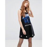 ASOSASOS Metallica Swing Dress With Eyelets - Black