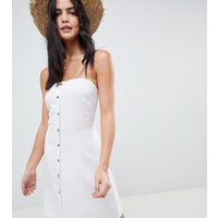 Akasa Exclusive Bandeau Button Front Beach Dress