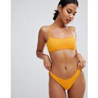 Twiin Alexa Textured Bikini Bottoms - Orange
