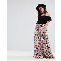 Free People Hot Tropics Maxi Skirt - Black multi
