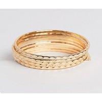Nylon multi pack bracelets - Gold