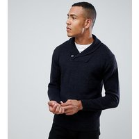 French Connection TALL Shawl Collar Chunky Cardigan - Navy