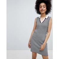 Urban Bliss Chevron Rob Dress - Grey