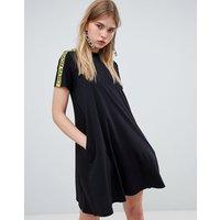 Cheap Monday Organic High Neck T-shirt Dress With Logo Tape - Black