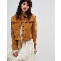 Free People Everlyn denim jacket - Mustard
