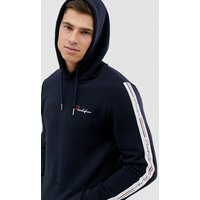 River Island hoodie with prolific logo with tapping in navy - Navy