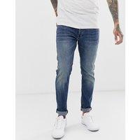 G-star 3301 Slim Fit Jeans In Medium Aged