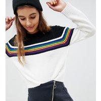 Jersey ajustado con detalle de rayas multicolor de E.L.K